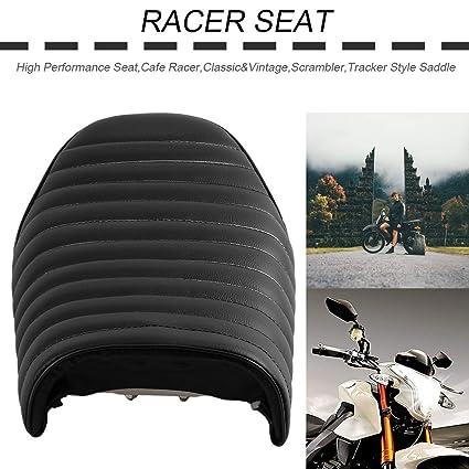 Black Classic Universal Café Racer Seat