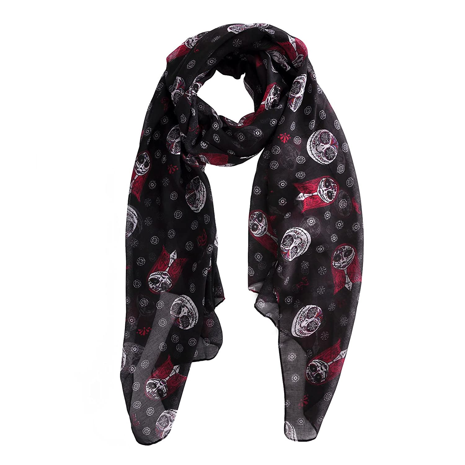 Nightmare Before Christmas Jack and Sally Scarf All Over Print Black ...
