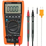Proster Digital Multimeter 3999 VC97 LCD Auto Ranging Multi Meter CAT II with Capacitance Resistance DC AC Voltage Current Transistor Diode Continuity