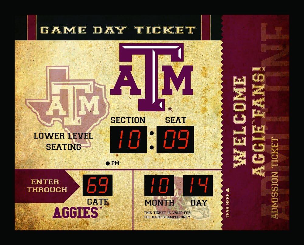 Team Sports America NCAA Bluetooth Scoreboard Wall Clock, Texas A&M Aggies
