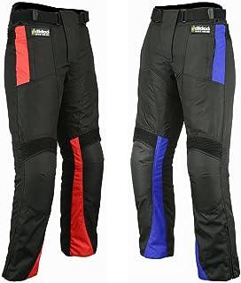 Hilbro Men's Motorbike Motorcycle Trousers Cordura Textile Waterproof Pants Weather