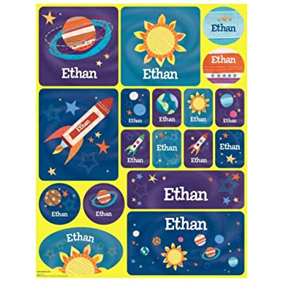 Stickers for Children, Kids, Boys, Girls, Personalized Name Labels, Outer Space : Baby