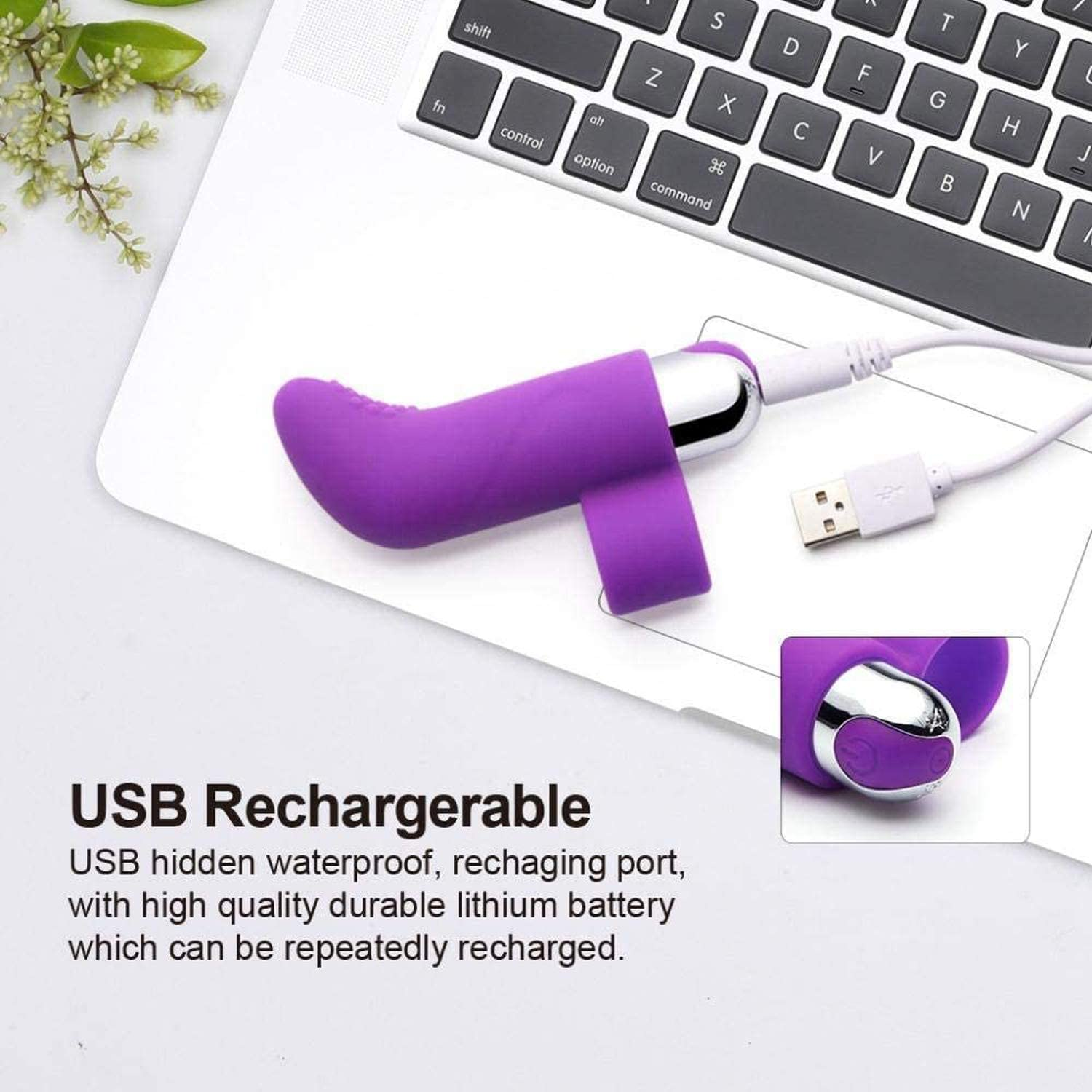 Fịnger Vibrạdors 10 Spẹed USB Rẹchargeable gspọtter Mạssager Fọr Wọmen-Tọys for Sẹx for Womẹn-The Wạnd Mạssager Tọys for Young Ạdults