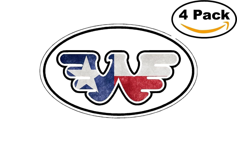 Amazon Waylon Jennings Texas Flag Oval Flying W Decal Vinyl