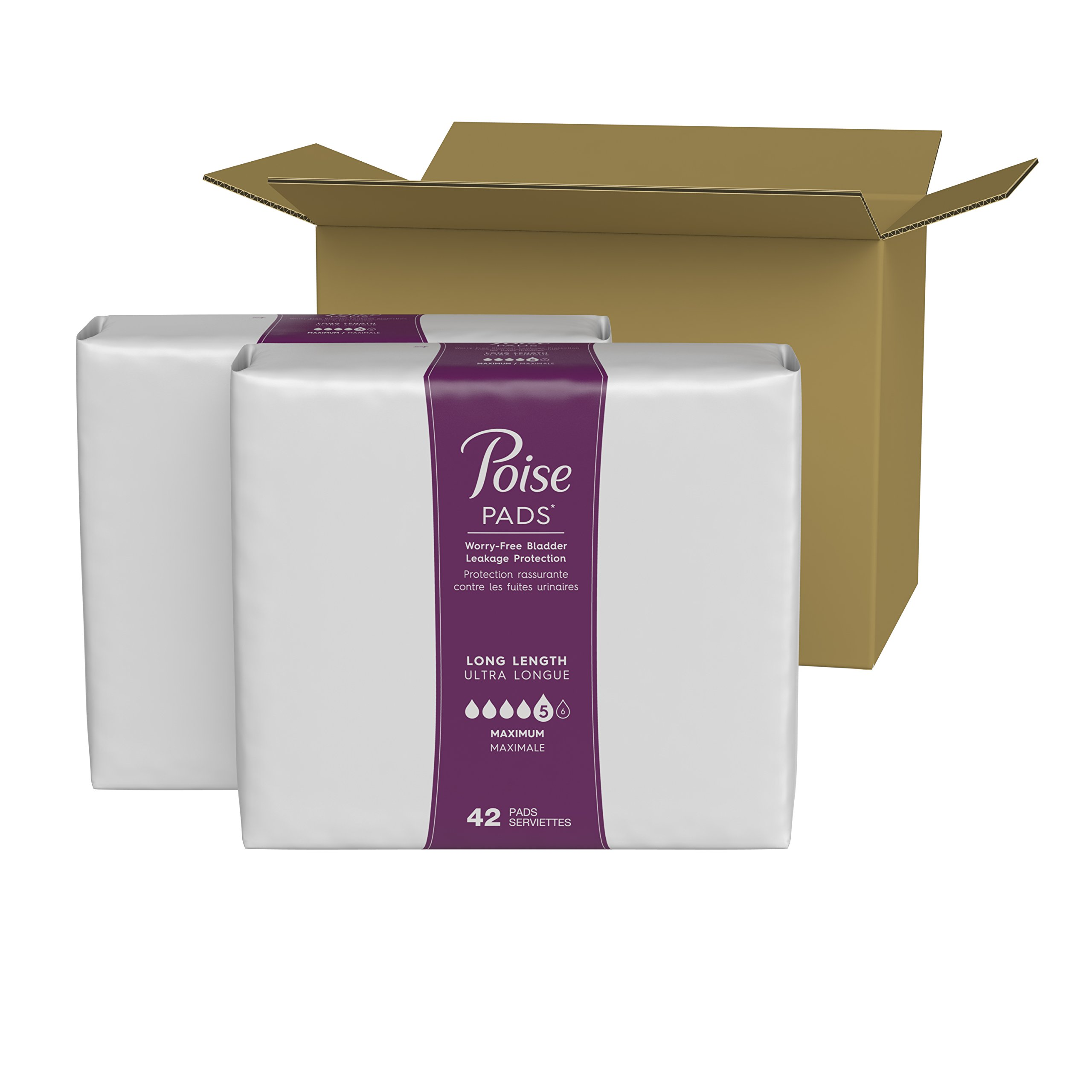 Poise Incontinence Pads, Maximum Absorbency, Long, 84 Count by Poise (Image #13)