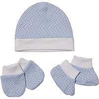 Kit Maternidade De Tricot Mami Tamanho Unico, Papi Textil, Azul Mami, Tamanho único - Recém nascido, pacote de 3