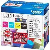 【Amazon.co.jp限定】brother 純正インクカートリッジ 4色パック LC111-4PK+CT