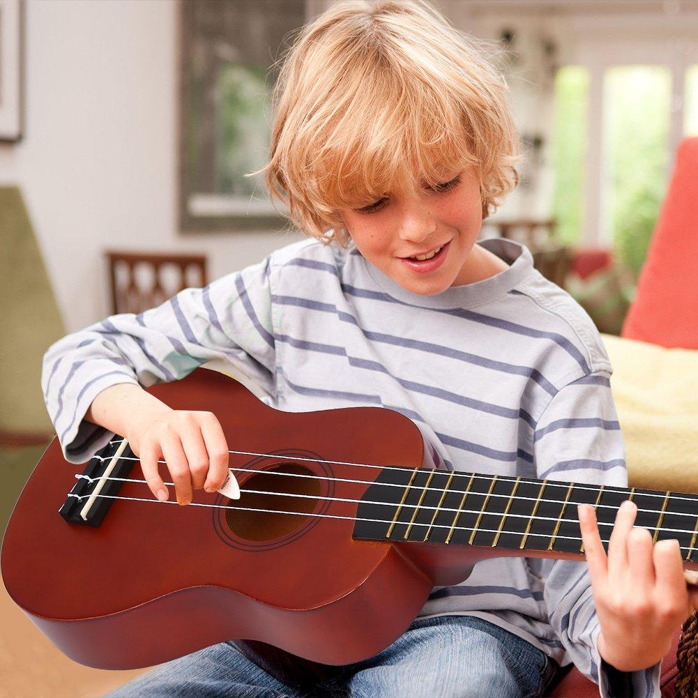 21pouces ukul/él/é /à 4 cordes instrument de musique jouet cadeau avec sac pour d/ébutants /étudiants enfants