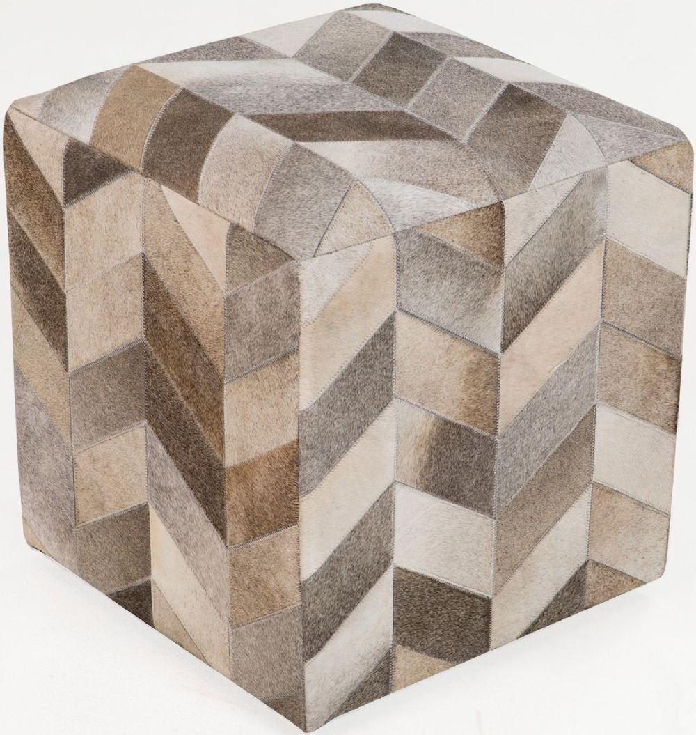 Surya Animal Inspirations Square pouf/ottoman 18''x18''x18'' in Neutral, Brown Color From Surya Poufs Collection by Surya (Image #1)