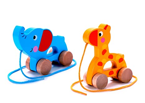 Push Toys For Toddlers : Amazon cubbie lee adorable wooden push pull along toy