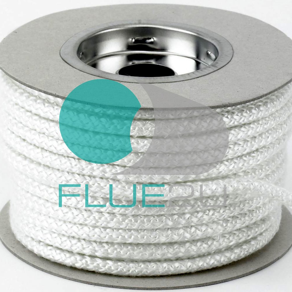 6mm Stove Fire Glass Fiber Rope 6mm Per Meter Woodburner Burner Door Seal