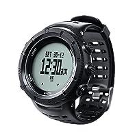 EZON d'escalade randonnée Sports de plein air montre avec boussole altimètre Baromètre Thermomètre étanche Montre-bracelet pour homme H001h11