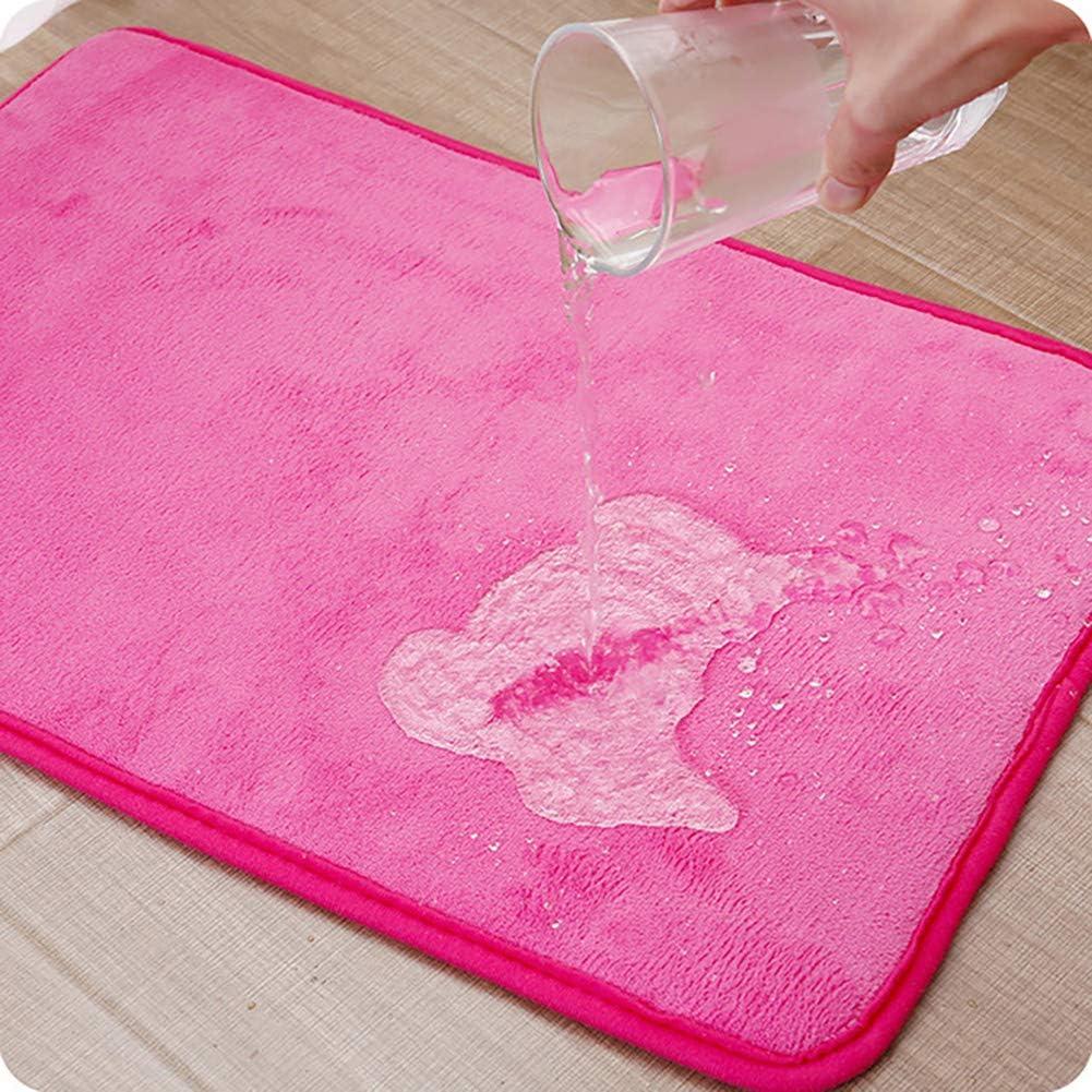 resistente al moho lavable suave Queta cocina antideslizante apta para secadora de pelo largo 40 x 60 cm para cuarto de ba/ño Alfombrilla de ba/ño