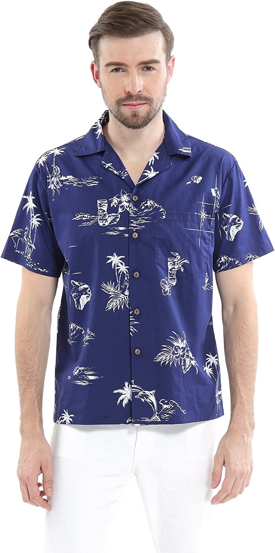 Hawaii Hangover Men's Hawaiian Shirt Aloha Shirt The New Classic Map Flamingo