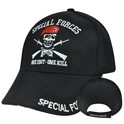 Image Unavailable. Image not available for. Color  Special Forces One Shot  One Kill Embroidered Cap Hat 689d88f81e4f