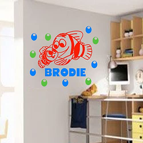 Amazon Com Finding Nemo Wall Sticker Personalized Name Decal Fish