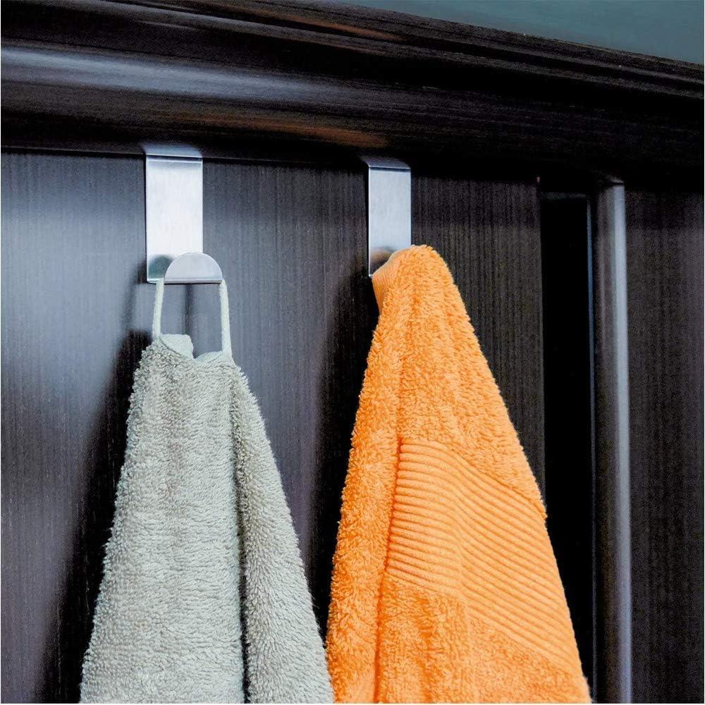 ganci con protezione in schiuma per la porta possono essere utilizzati singolarmente senza forare Wohlstand 10x per tenere in ordine lappartamento ganci porta in acciaio inossidabile