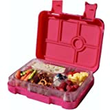 Bento Lunch Box Food Container For Kids School Picnic 6 Compartments Leakproof Pink Bento Box Dishwasher Safe