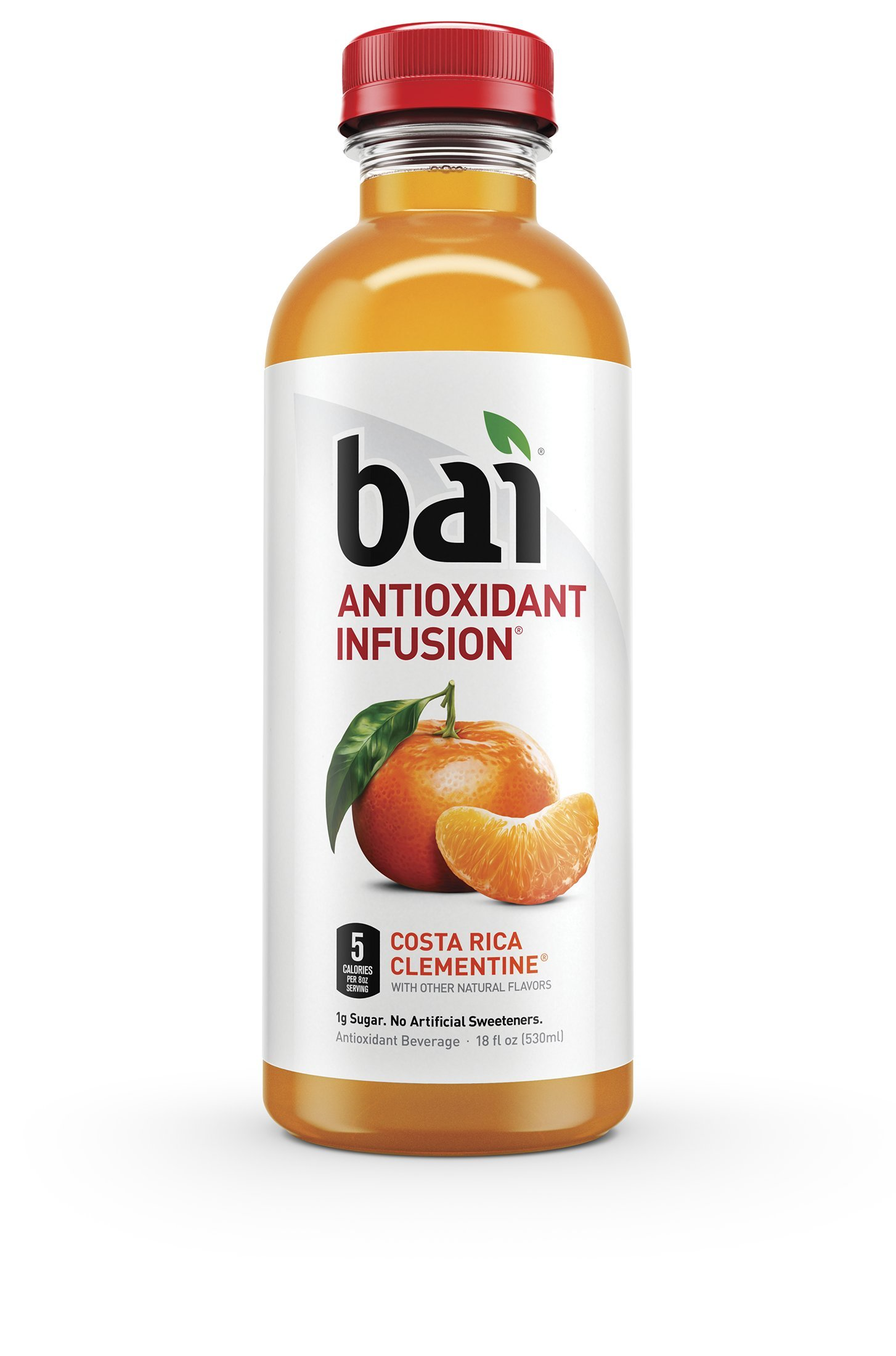 Bai Costa Rica Clementine, Antioxidant Infused Beverage, 18 Fluid Ounce Bottles, 12 count