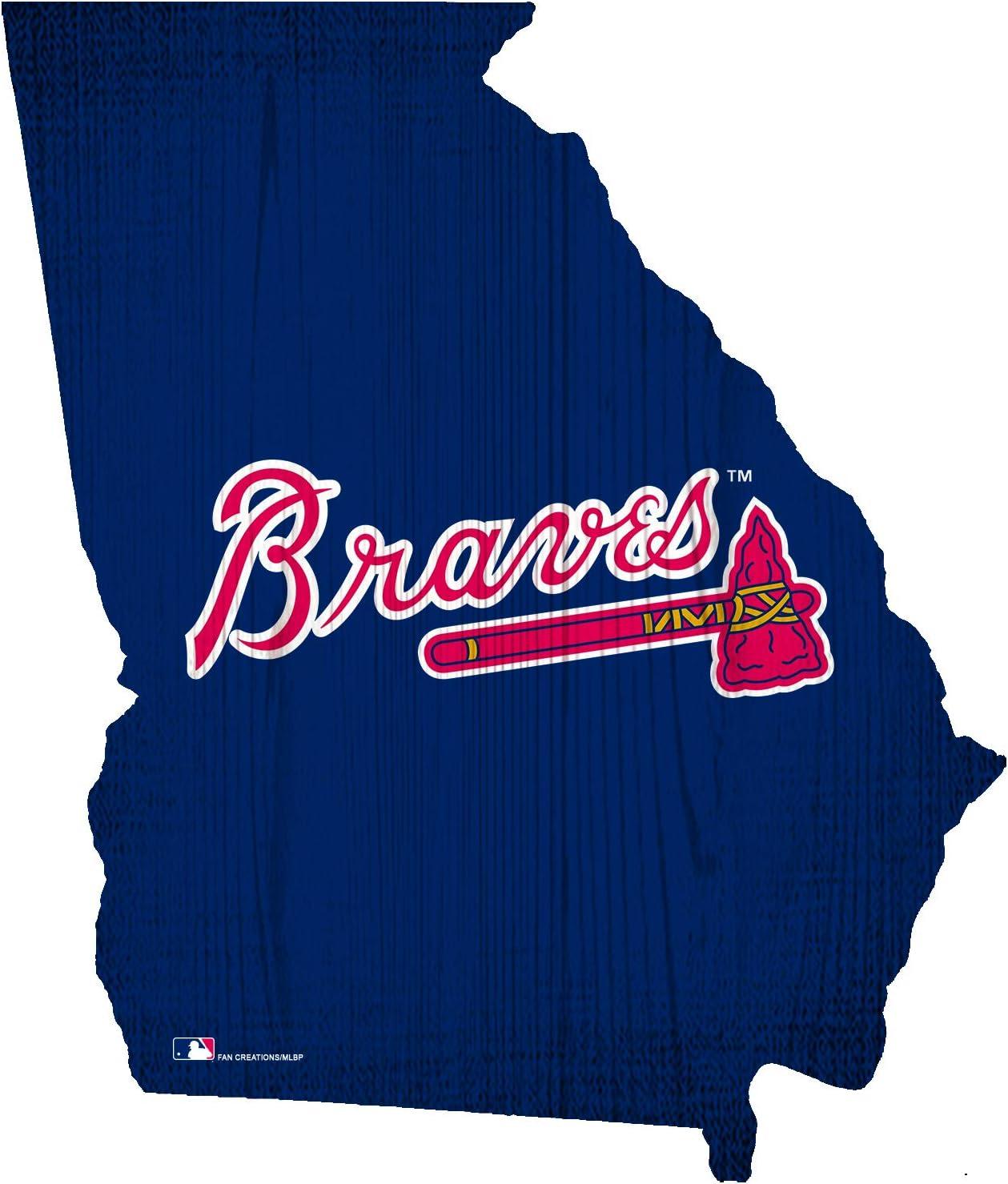 "Fan Creations Atlanta Braves 12"" Team Color Logo State"