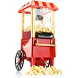 Gadgy Popcorn Machine | Retro Palomitero Pop Corn Maker | Aire Caliente Sin Grasa Aceita