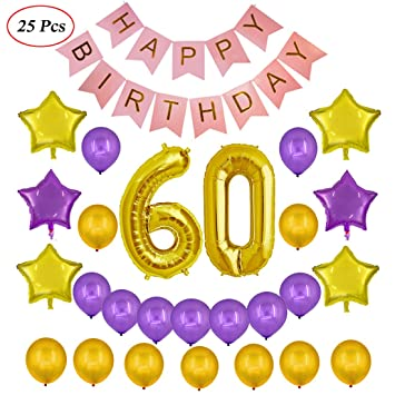 Echolife 60th Birthday Party Decorations Kit