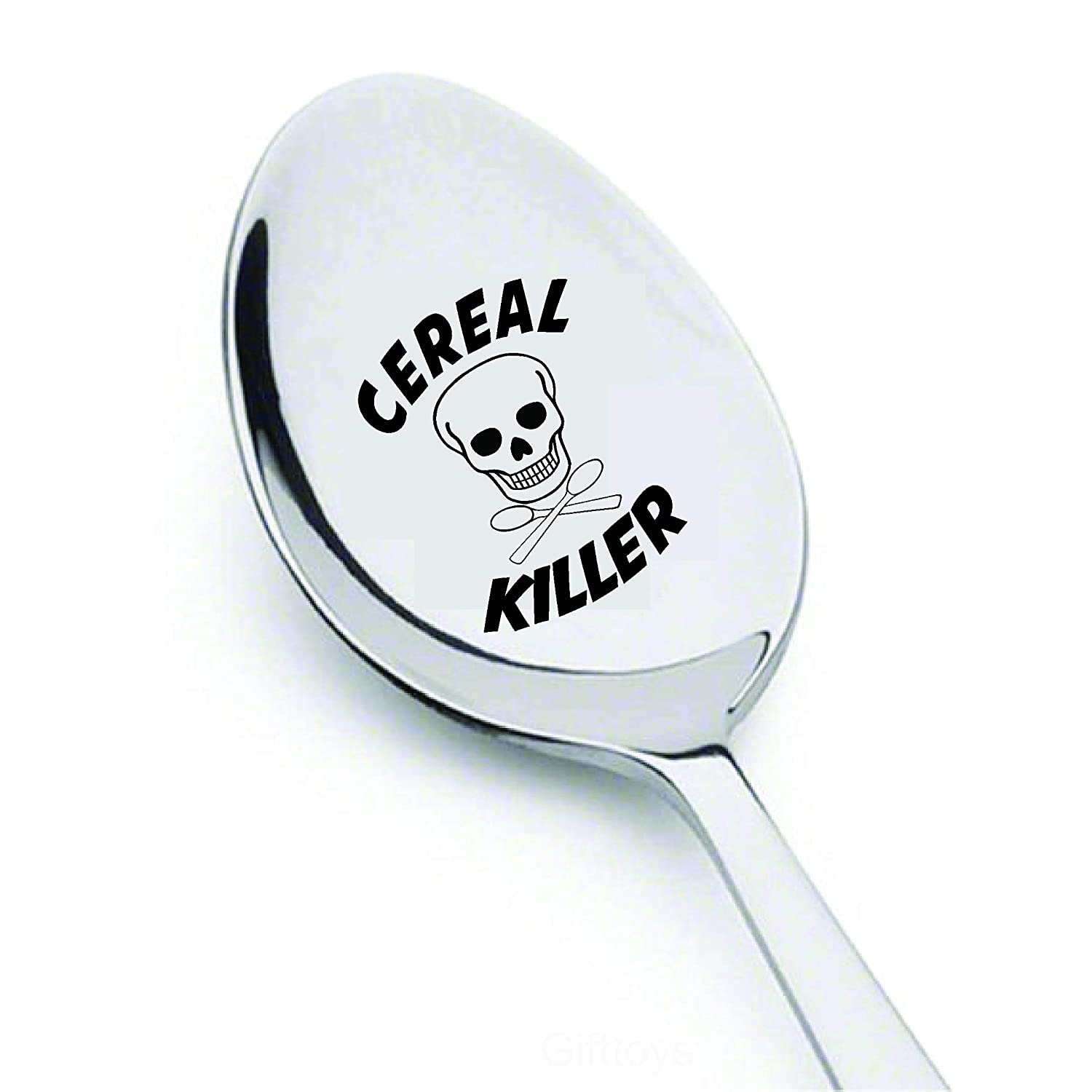 Cereal-Killer Spoon - Engraved Spoon - Gift for Him - Gift for Her - Lovers Gift - Spoon Gift - Funny Gifts - Tea Spoon - Best Friends Gifts - mom Gifts