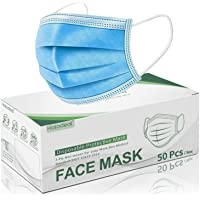 Hotodeal 50 Pcs Disposable Face Masks, Breathable Face Mask 3 Layer Protection Best...
