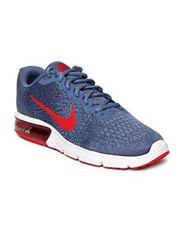 Nike Men's Blue Air Max Sequent 2 Running Shoes(852461-403) (UK