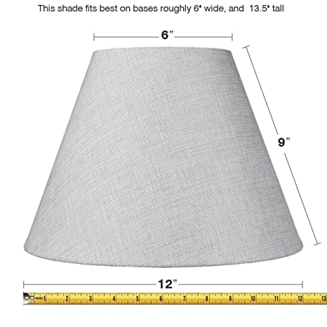 6x12x9 slip uno fitter hard back empire lampshade khaki burlap 6x12x9 slip uno fitter hard back empire lampshade khaki burlap includes conversion kit to mount aloadofball Gallery