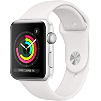 Apple Watch Series 3 (GPS, 42‑mm) - Kast van Zilverkleurig Aluminium Wit Sportbandje
