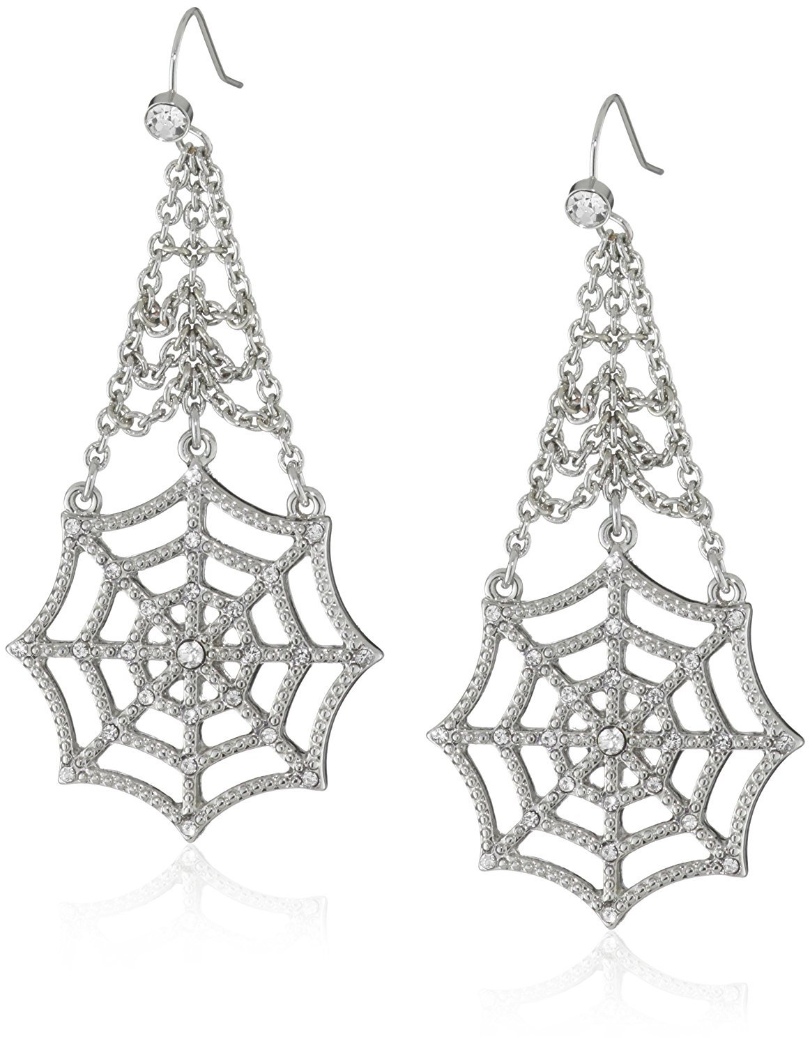 Marvel Comics Spider-Man Web Crystal Dangle Earrings Licensed by MARVEL + Comic Con Exclusive