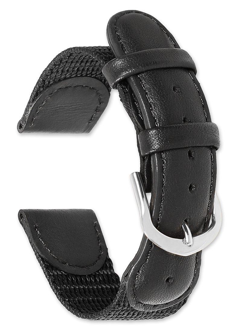 deBeer Swiss Army Watchband - Black 19mm Watch band