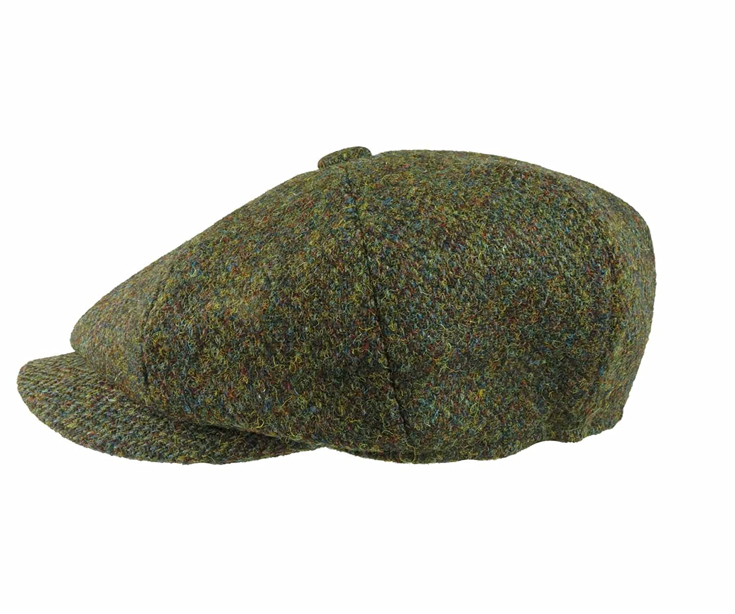 3364665cfea Earland Brothers Failsworth Failsworth Hats Carloway 8-Piece Bakerboy  Harris Tweed Green 2016  Amazon.co.uk  Clothing