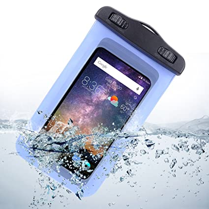 meet a1e25 64445 Sumaclife Universal Waterproof Case For LG G2 / Motorola DROID MAXX / HTC  One M8 (Blue)