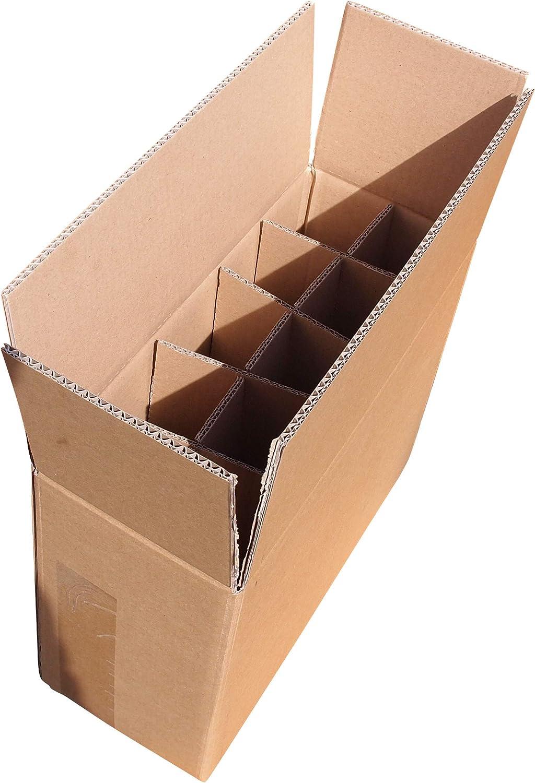 Orient Feinkost - Caja de cartón para 10 botellas de cerveza (5 unidades, 0,33-0,5 L): Amazon.es: Oficina y papelería