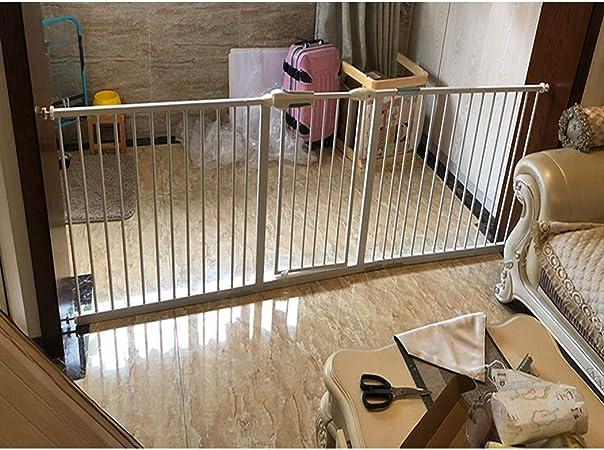 Guardrail puerta de seguridad extra ancha para escalera y pasillo, puerta de paseo, puerta de seguridad para bebés con kit de montaje a presión, valla de chimenea de autocierre High78cm, 216-225cm: Amazon.es: