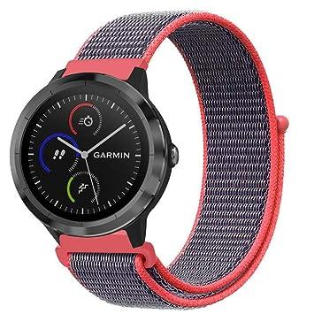 Fintie Bracelet pour Vivoactive 3 - Bande de Remplacement Ajustable en Nylon Tissé pour Garmin Vivoactive
