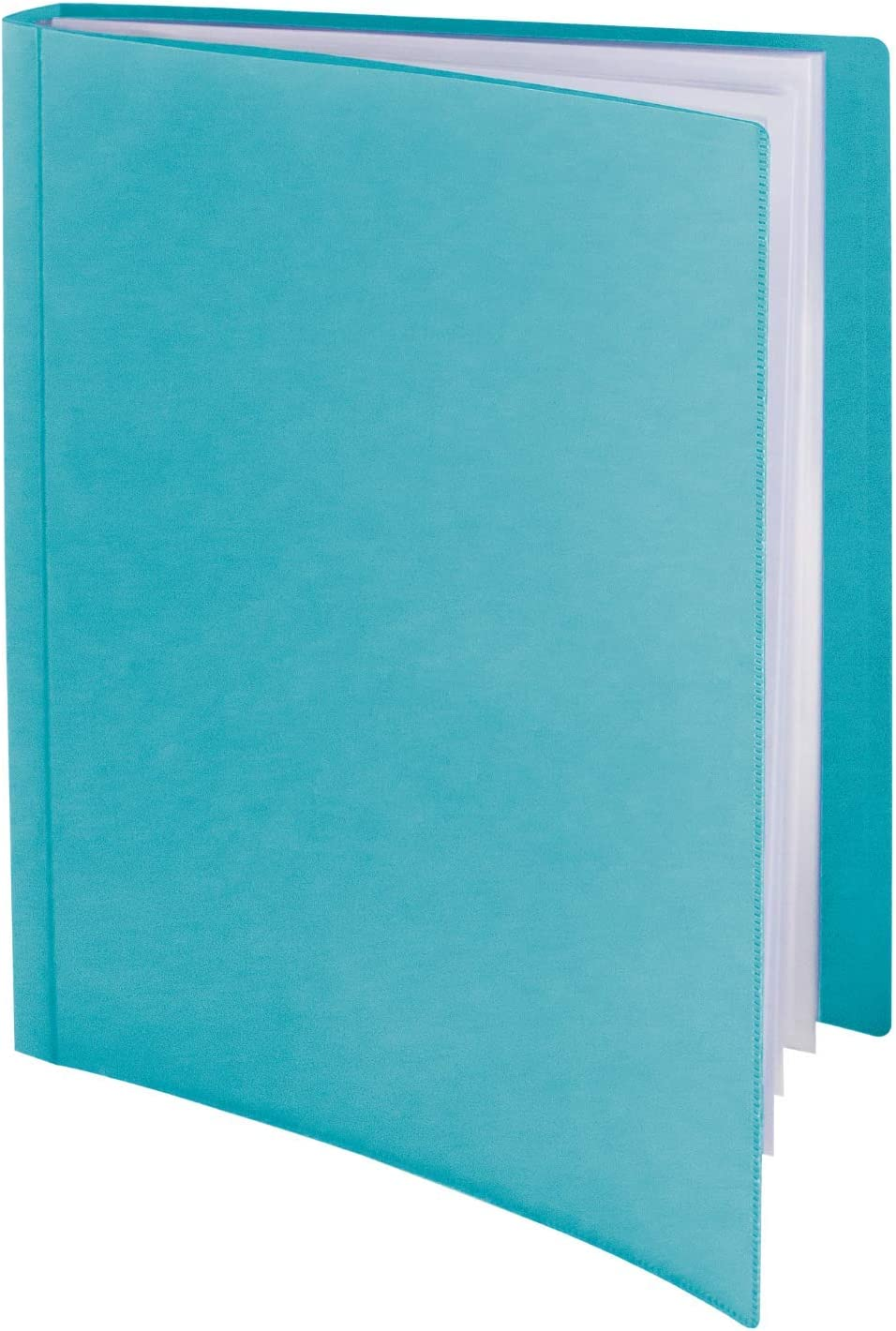 Dunwell Binder with Plastic Sleeves - (Aqua, 1 Pack), 24-Pocket Bound Presentation Book with Clear Sleeves, Sheet Protector Binder Displays 48 Pages of 8.5x11 Letter Size Documents, Sheet Music, etc.