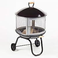Feuerstelle klein schwarz Fire Pit ✔ rund