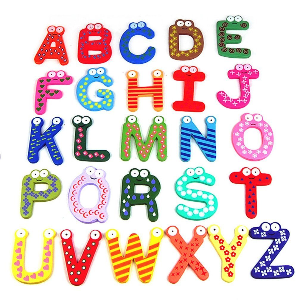 Design Alphabet Magnets amazon com dsb colorful numbers alphabets wooden fridge magnets kids children learning teaching toys games