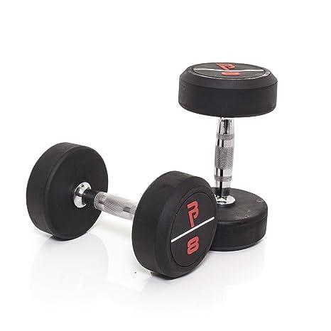 Bodypower Pro de goma mancuernas 8 kg x 2: Amazon.es: Deportes y ...