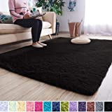 Noahas Super Soft Modern Shag Area Rugs Fluffy Living Room Carpet Comfy Bedroom Home Decorate Floor Kids Playing Mat 4…