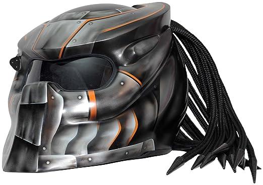 Amazon.es: Casco para moto Predator x1 Iron con luz LED EXTRA LARGE Iron Airbrush