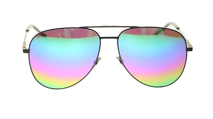 ae691dc24f9 Image Unavailable. Image not available for. Color  SAINT LAURENT Unisex  Sunglasses SL Classic 11 ...