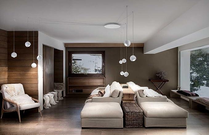 Lampadario Bianco Opaco : Studio italia lampada a sospensione spider in crema bianco bianco
