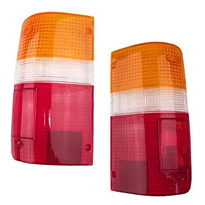 1989-1995 Toyota Pickup Truck 2WD & 4WD Rear Brake Tail Light Lamp Taillight Taillamp Lens Only Pair Set: Right Passenger AND Left Driver Side (1989 89 1990 90 1991 91 1992 92 1993 93 1994 94 1995 95): Automotive