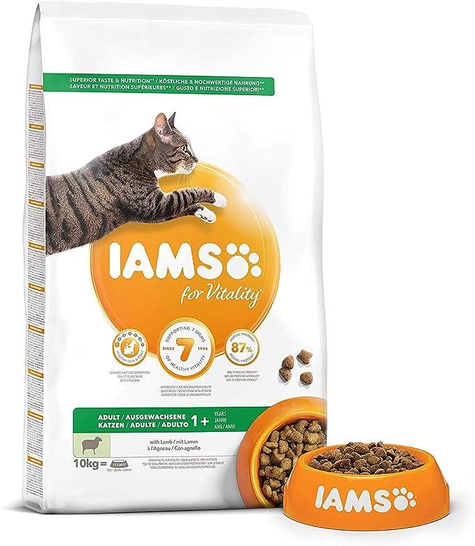 IAMS for Vitality Alimento para Gato Adulto con Cordero, 10 ...