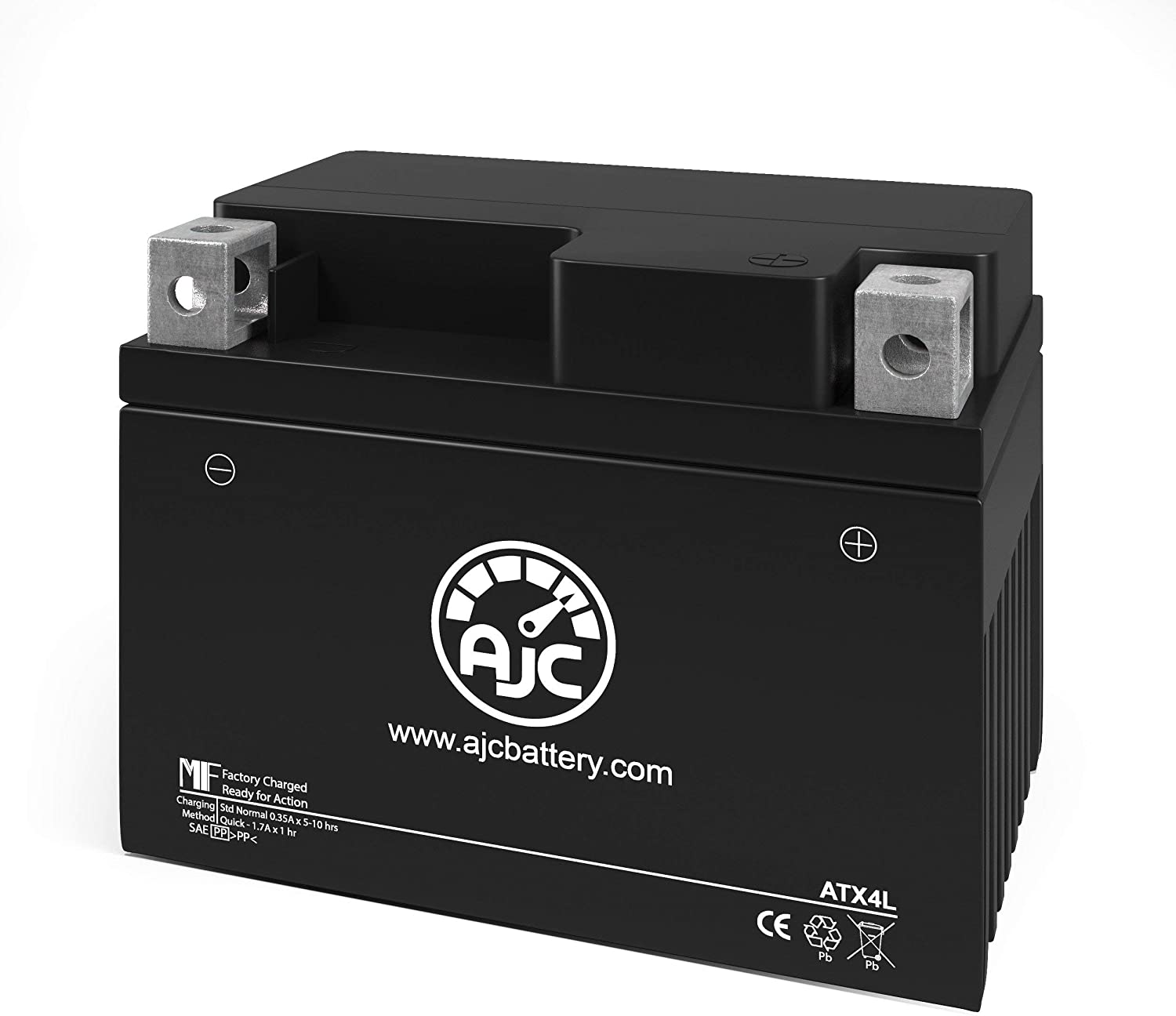 This is an AJC Brand Replacement SigmasTek STX4L-BS Powersports Replacement Battery