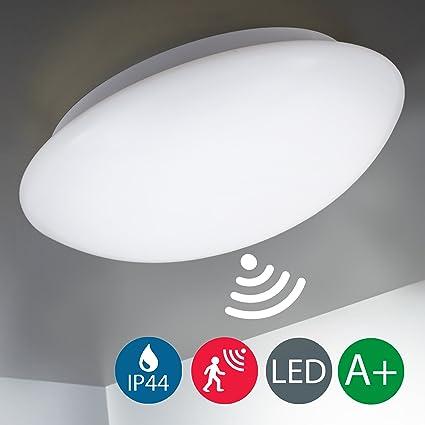 LED Deckenleuchte mit Radar-Bewegungssensor, Innen &- Außen, Bewegungsmelder, Außenbeleuchtung, Badezimmer, IP44